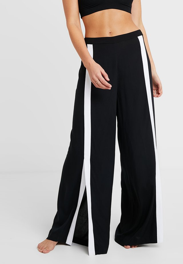 PANTS - Pyjamasbukse - black/white