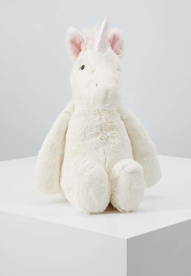 BASHFUL UNICORN - Cuddly toy - white