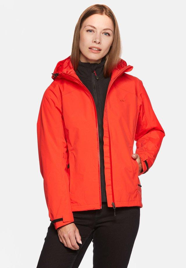 CLARA - Waterproof jacket - flame