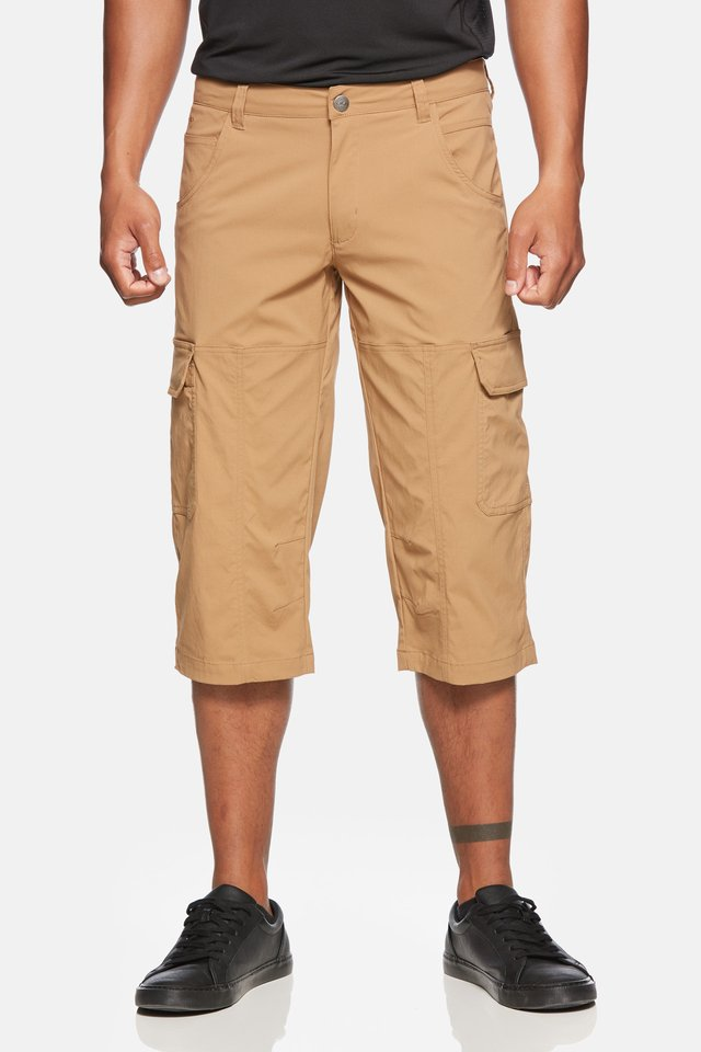 TORNADO - 3/4 sports trousers - tobaco
