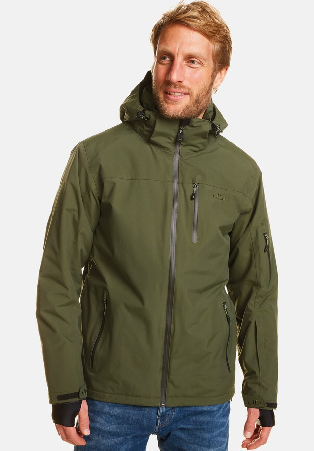 BERGEN - Snowboard jacket - kombu green