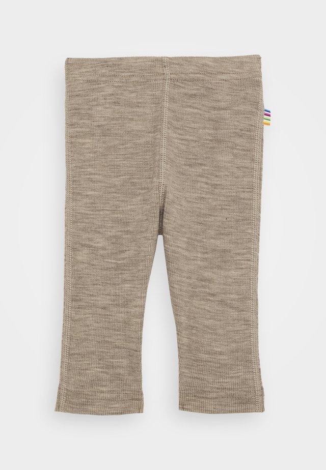 Leggings - Trousers - mottled light brown