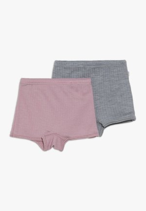 HIPSTER BASIC 2 PACK - Bokserit - old rose/light grey
