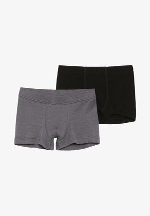 2 PACK - Boxerky - black/grey melange