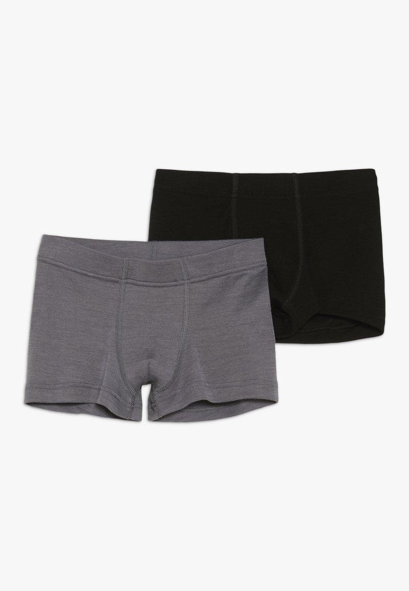 Joha - 2 PACK - Pants - black/grey melange