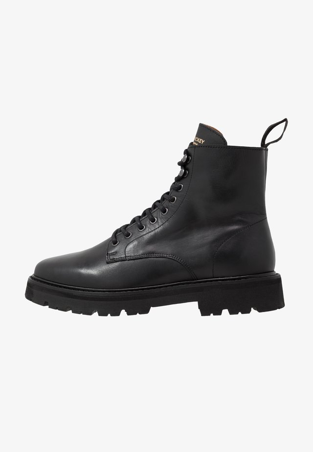 COMBAT BOOT - Stivaletti stringati - black