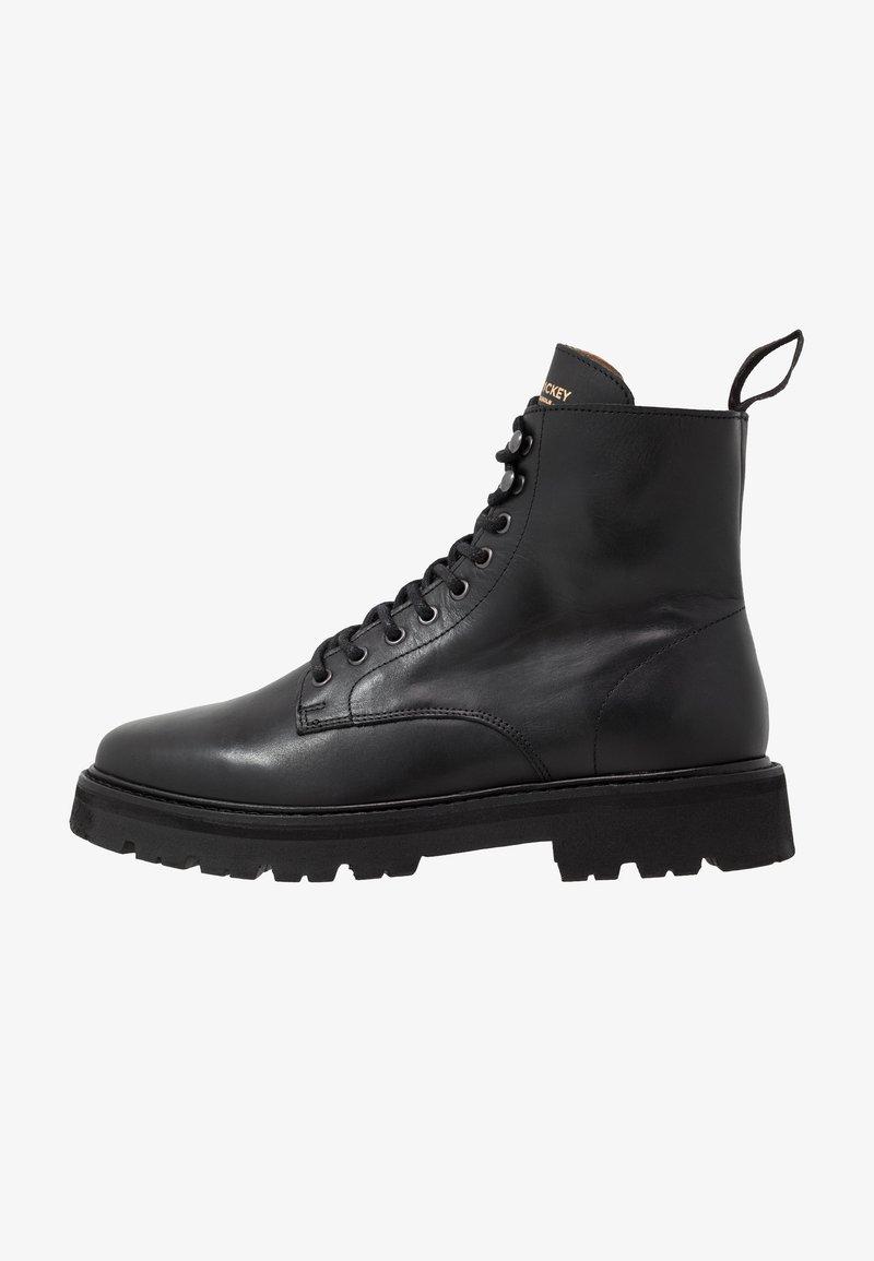 Jim Rickey - COMBAT BOOT - Šněrovací kotníkové boty - black
