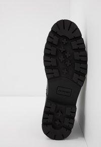 Jim Rickey - COMBAT BOOT - Šněrovací kotníkové boty - black - 4