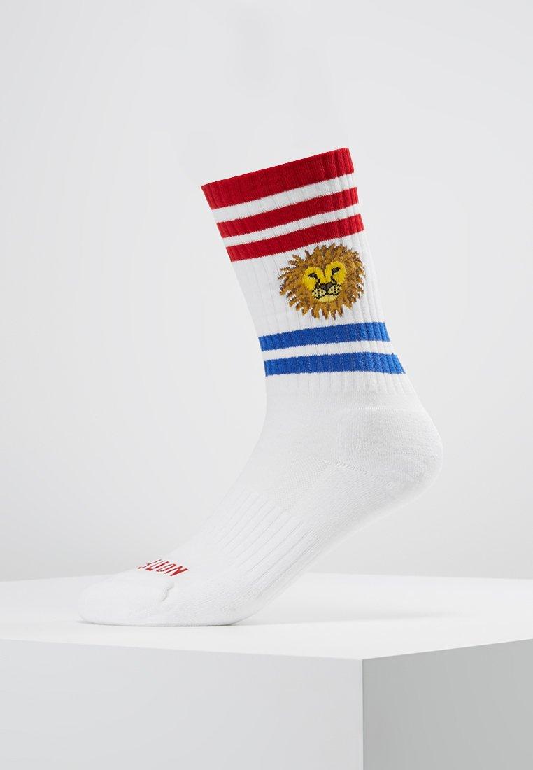 Jimmy Lion - LION HEAD - Socks - white
