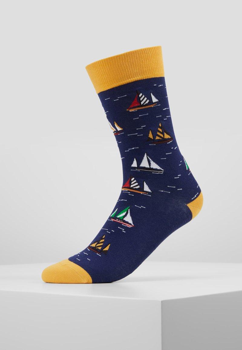 Jimmy Lion - SAILBOAT RACING - Socks - dark blue