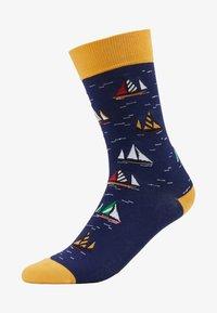 Jimmy Lion - SAILBOAT RACING - Socks - dark blue - 1