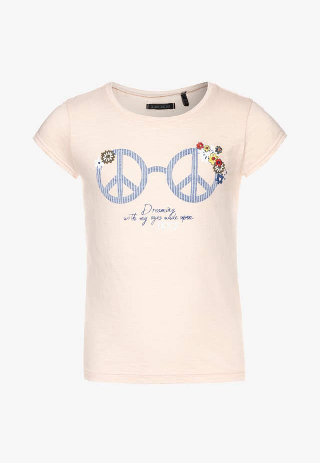 TEE - T-shirt med print - rose poudré