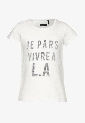 TEE - T-shirt imprimé - blanc cassé