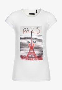 IKKS - TEE - Print T-shirt - blanc cassé - 0