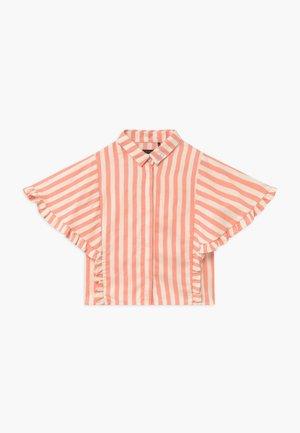 Button-down blouse - pêche rayé