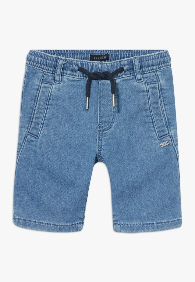 BERMUDA - Denim shorts - blue bleach
