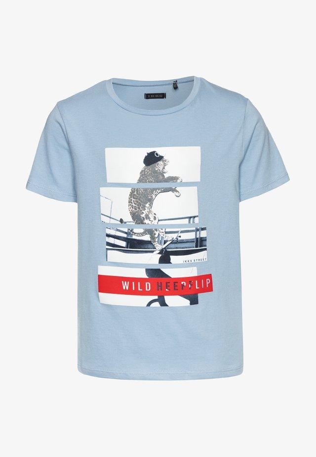 T-shirt print - bleu ciel