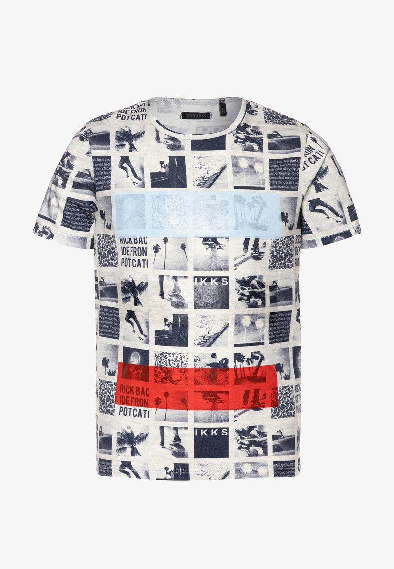 IKKS - TEE - T-shirt imprimé - beige clair chiné