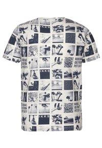 IKKS - TEE - Print T-shirt - beige clair chiné - 1