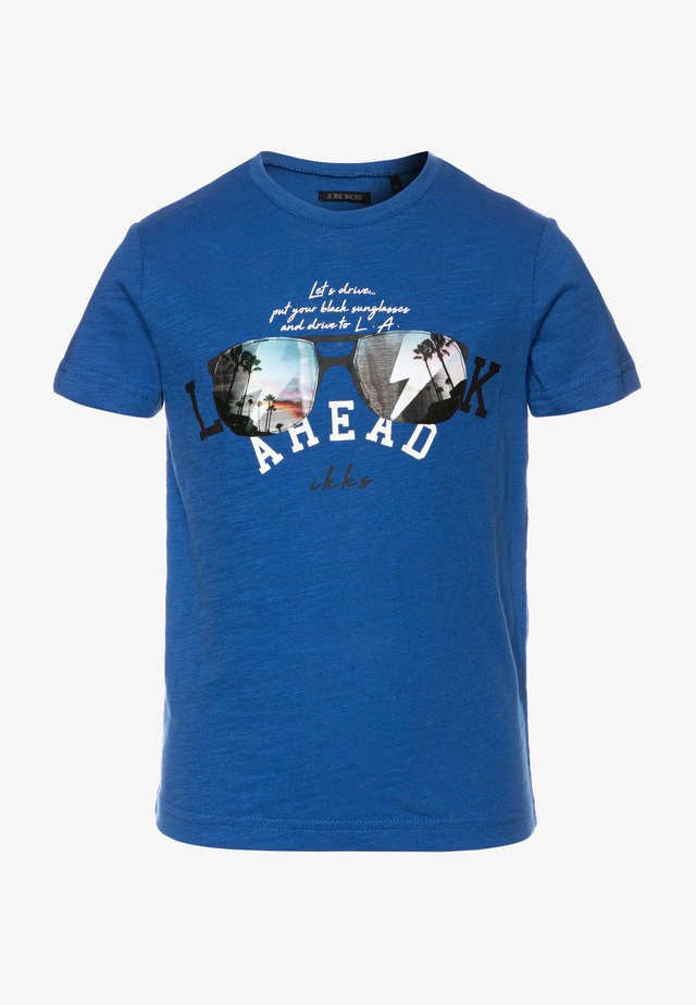 TEE - T-shirt print - bleu foncé