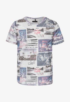 T-shirt imprimé - gris chiné