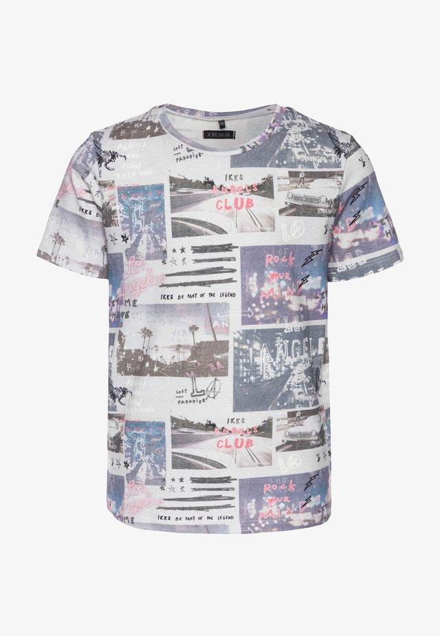 Print T-shirt - gris chiné