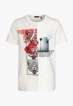 T-shirt imprimé - beige clair chiné