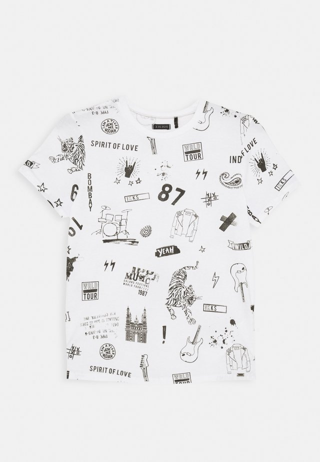 TIGER - T-shirts print - blanc cassé imprimé