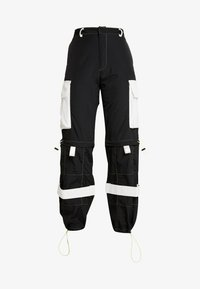 Jaded London - ZIP OFF OVERSIZED TROUSER - Tracksuit bottoms - black/white - 4