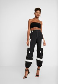 Jaded London - ZIP OFF OVERSIZED TROUSER - Tracksuit bottoms - black/white - 2
