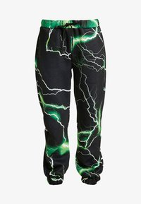 Jaded London - PRINTED CUFF HEM - Tracksuit bottoms - black/green - 4