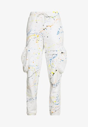 CUFFED JOGGER WITH SLOUCHY POCKETS - Tracksuit bottoms - off-white