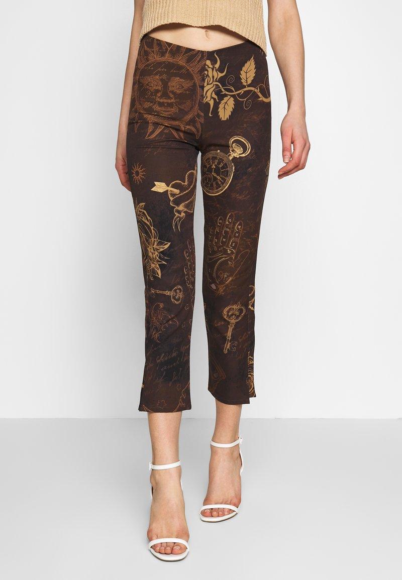 Jaded London - KICK TROUSER - Trousers - brown