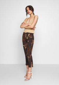 Jaded London - KICK TROUSER - Trousers - brown - 1