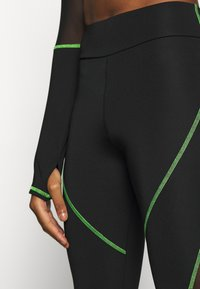 Jaded London - HIGH WAIST KNICKER SEAM WITH SHEER PANELS - Leggings - Trousers - green/black - 6