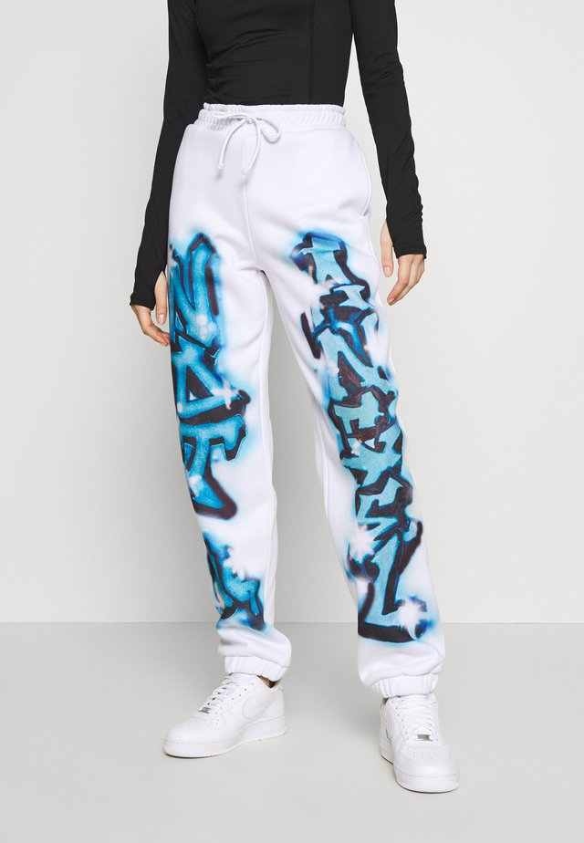 CUFFED JOGGERS NOT YOUR - Spodnie treningowe - blue