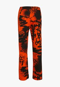Jaded London - GRAFFITI PRINT JOGGER - Trainingsbroek - orange/black - 1