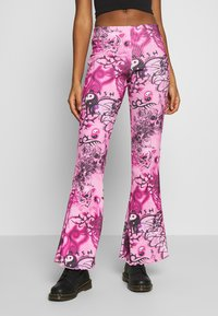 Jaded London - FLARE TROUSER - Trousers - pink - 0