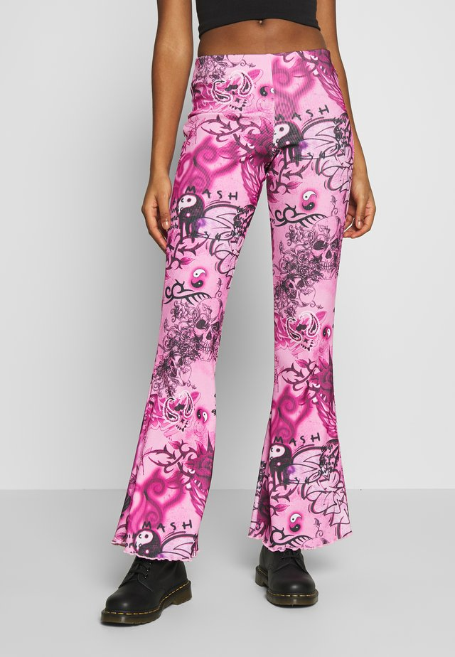 FLARE TROUSER - Kalhoty - pink