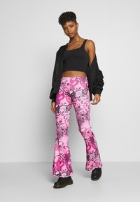Jaded London - FLARE TROUSER - Trousers - pink - 1