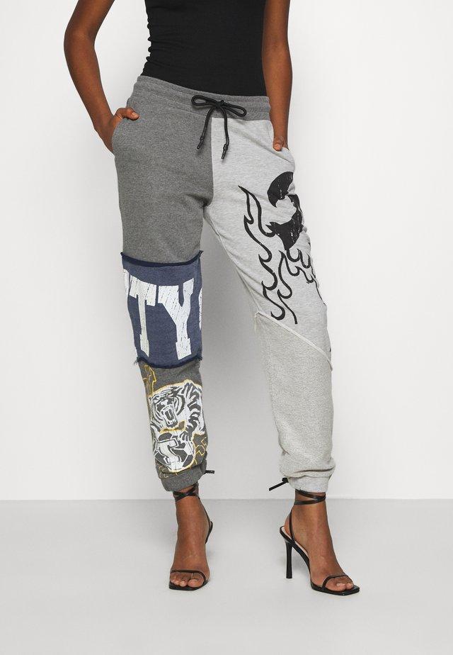 VARSITY PATCHWORK JOGGERS - Pantalon de survêtement - multi