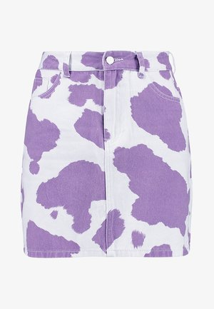 EXCLSUVE MINI SKIRT WITHOUT BELT - Jupe en jean - pink/lilac cow