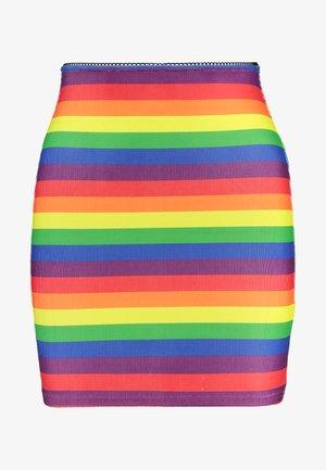 PRIDE RAINBOW MINI SKIRT - Spódnica mini - multi