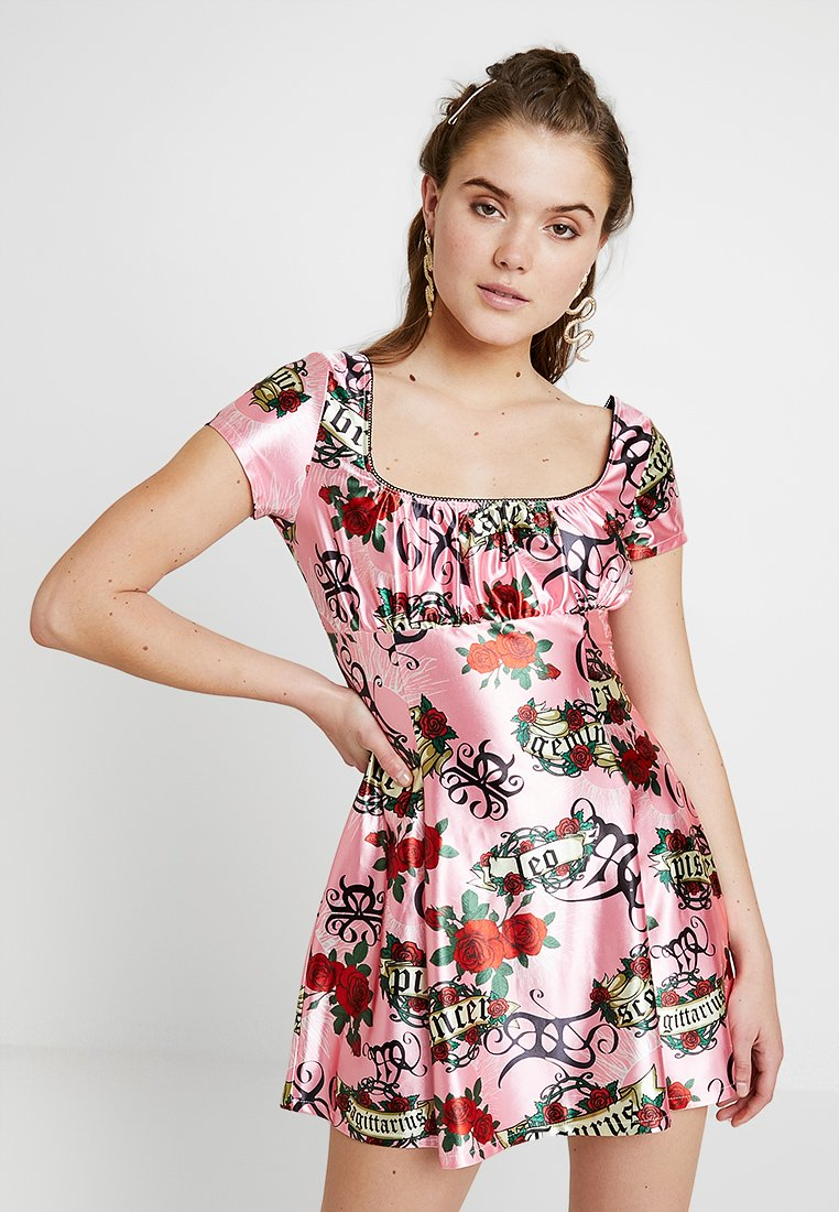 Jaded London - FIT AND FLARE GYPSY DRESS ASTROLOGY - Day dress - pink