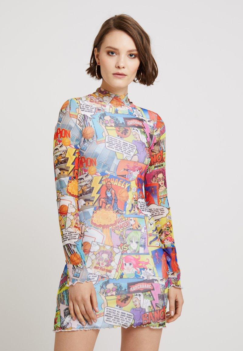 Jaded London - DRESS WITH BABYLOCK HEM - Etuikleid - multi-coloured