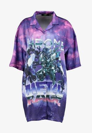 OVERSIZED REVERE COLLAR SHIRT DRESS - Denní šaty - multi-coloured