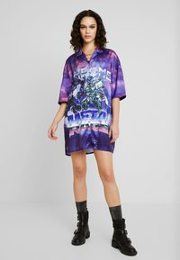 Jaded London - OVERSIZED REVERE COLLAR SHIRT DRESS - Korte jurk - multi-coloured - 2