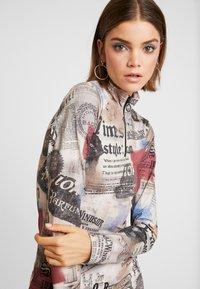 Jaded London - ZIP THROUGH HIGH NECK LONG SLEEVE DRESS - Robe fourreau - multicoloured - 4