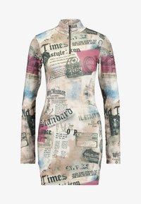 Jaded London - ZIP THROUGH HIGH NECK LONG SLEEVE DRESS - Pouzdrové šaty - multicoloured - 5