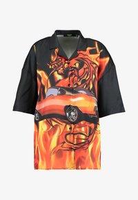 Jaded London - OVERSIZED REVERE COLLAR DRESS - Shirt dress - black - 5